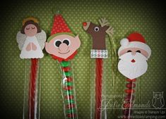 Christmas Characters Punch Art by InkyFingrz - Cards and Paper Crafts at Splitcoaststampers