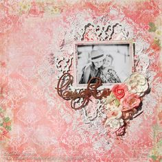 Shimmerz Paints: A soft and romantic layout with Karine