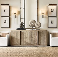 Modern Console Tables with sculptural forms can bring character and charm to your modern home. Often neglected this piece may be discreet but at the same time it creates the right impact in the perfect place. Sideboard Decor, Oak Sideboard, Living Room Designs, Living Room Decor, Furniture Vanity, Furniture Design, Floating, Chesterfield Sofa, Deco Design