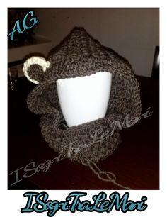 Prototype Work in progress - bear cowl - crochet
