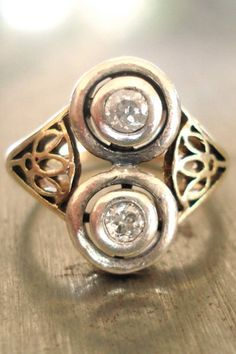 Antique Sparkle 1900's Antique Diamond Ring, $685, available at Etsy.  #refinery29 http://www.refinery29.com/28071#slide-22