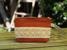Bridesmaid Lace Zipper pouch Cosmetic bag Makeup bag by Shedrem f0def148d8b