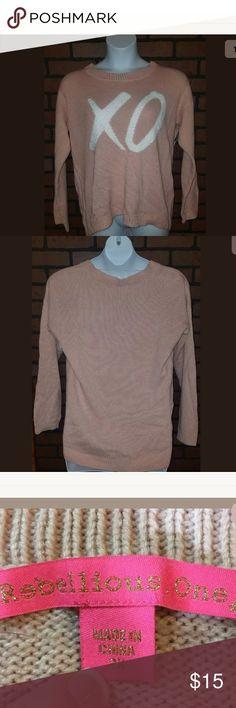"Women Sweater Blouse Size 2X  Pink Rebellious One Women  Sweater Blouse Size 2X Acrylic Blend Pink Rebellious One New L1 Armpit to armpit 20"" Length 20"" Rebellious One Sweaters Crew & Scoop Necks"