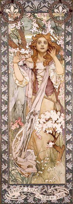 Alfons Mucha. Maud Adams as Joan of Arc (1909)