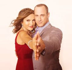 mariska hargitay and christopher meloni... 2 awesome folks I have met. SVU isn't the same without Chris!! Hot tv  couple, too!