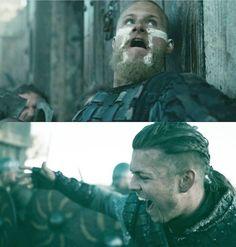"""Bjorn vs Ivar the boneless """"Ragnarok"""" Vikings Show, Vikings Tv, Viking Art, Viking Woman, British History, Art History, Ivar The Boneless, Viking Dress, Lagertha"""