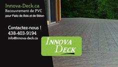 Installation de membrane PVC Revêtement Patio Bois & Béton