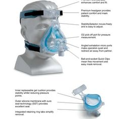 New Upgrade - ComfortGel Blue Full Face CPAP Mask by Philips Respironics.  £120  Click on Image for more details.