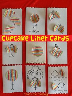 Cupcake liner Cards - love these!