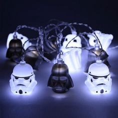 Are you looking for Darth Vader & Stormtrooper String Lights? We have sorted out the best Star Wars gifts in the universe so that you don't need to go to galaxy far far away. Check our top picks now. Star Wars Dark, Star Wars Light, Decoration Star Wars, Star Wars Decor, Star Wars Books, Star Wars Characters, Cadeau Star Wars, 3d Deco Light, Darth Vader Death