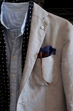 threadandsalt:    l.b.m. blazerdrakes scarfuniqlo shirtbandanadom vetro shades