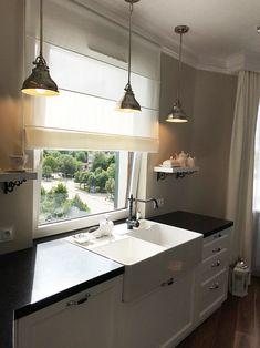 Przykładowe Realizacje - Pasadena Home & Deco Sink Faucets, Sinks, Home Kitchens, Windows, Curtains, Black And White, Interior, House, Ideas