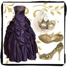 same masquerade Ballgown i love, different accessories...IN LOVE with the shoes!!