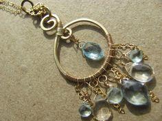 Infinite & Blue Balachian Necklace Gold by BellaBerlinJewels