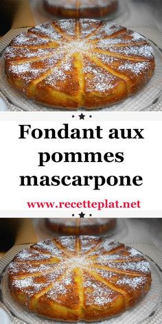 Fondant aux pommes et mascarpone avec thermomix - Best Pins France Dump Cake Recipes, Cheesecake Recipes, Dessert Recipes, Apple Recipes, Sweet Recipes, Desserts Thermomix, Passover Desserts, Grilled Desserts, Easy Summer Desserts