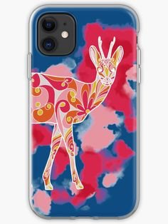 'Roe buck boho' iPhone Case by Marlene Wagenhofer Sell Your Art, Iphone Case Covers, Cover Design, Finding Yourself, Card Making, Wildlife, Stationery, Illustrations, Graphic Design