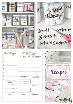 Organize your home and office with this round up of 25 of the most creative free printables to get organized. Includes To Do lists, calendars and labels.