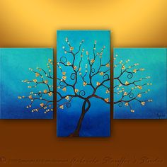 Great idea.  Using different size canvas to create one picture.  Simple Canvas Painting Ideas | simple painting