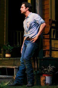 Sebastian Stan ¦ Picnic [Broadway 2012]  I would climb that boy like a tree.