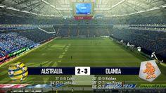 AUSTRALIA - OLANDA 2-3 - MONDIALI BRASILE 2014 - 18-6-2014 - SCHEDA TECNICA