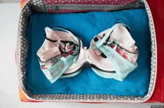 How to fold bras when packing