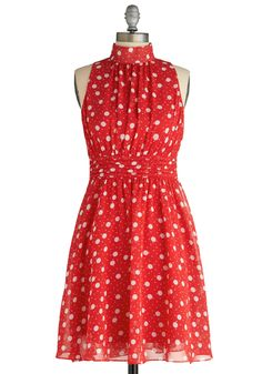 Windy City Dress in Strawberry Dots - XS NWOT, $25SHIPPED