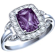 Ben Moss Jewellers Amethyst, White Topaz and Diamonds, 10k White Gold Ring... do you like this one at all? other stones are available too.