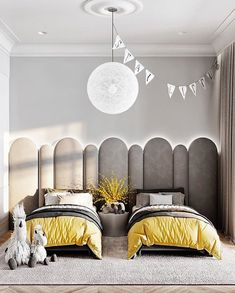 Click in the image to find more kids bedroom inspirations with Circu Magical Furniture! Be amazed with Circu Magical furniture and their luxury design: CIRCU. Kids Bedroom Designs, Bedroom Bed Design, Kids Room Design, Bedroom Decor, Luxury Kids Bedroom, Nursery Wall Decor, Home Interior, Interior Design, Yellow Interior