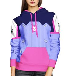 D.va from Overwatch Hoodie by Magical Girl and Nerd Boy Made+to+Order+Hoodie Sizes+XS-XL -100%+Polyester -Heavyweight+super-soft+polyester+fibers -Adjustable+drawstring+hood -Standard+Fit -Machine+Washable -Designs+imprinted+using+an+advance+heat+sublimation+technique Each+design+is+made+to+order+and+may+vary+slightly.+ On+Sale+for+$58,...