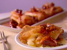 Crispy Smoked Mozzarella with Honey and Figs recipe from Giada De Laurentiis via Food Network