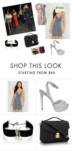 """Night Out with Little Mix"" by elenadreams99 ❤ liked on Polyvore featuring Nasty Gal, Post-It, Stuart Weitzman and Yves Saint Laurent"