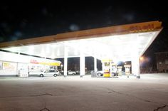 白熱灯を用いたガソリンスタンド照明(Good LightingにLED交換後の写真有) http://hikarigai.net/mediablog/?eid=271