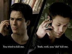 The Vampire Diaries: Damon and Alaric | I love their friendship. They're awesome drinking buddies
