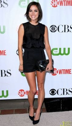 Jessica Stroup attends the CBS/CW/CBS/Showtime TCA party held at the Huntington Library on Monday (August 3) in Pasadena, Calif.
