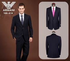 Armani One Button Suit Black 12