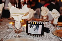 Vintage hollywood stars table numbers for wedding