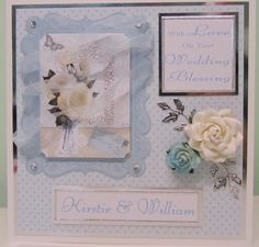 Soft & subtle. Card made using Kanban Floral Blooms paper craft collection for floral / female cards.