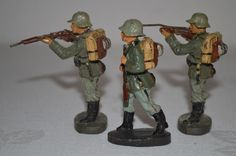 Antike Elastolin Lineol Militär-Massefiguren marschierende Soldaten 252 | eBay
