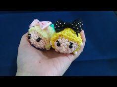 かぎ編みで編む(only hook)ツムツム(TSUM TSUM)アリス(Alice)レインボールーム(Rainbow loom) - YouTube