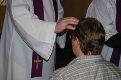 During this sacrament, the Priest traces the sign of the cross on the forehead of the person in need. This is used a symbol to represent that God is with them. God is there to be by their side and give them the spiritual strength and guidance they need.