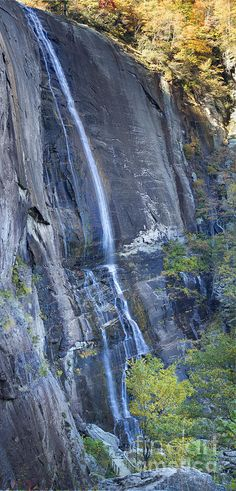 Hickory Nut Falls, Chimney Rock State Park- North Carolina- where my favorite movie, Last of the Mohicans, was filmed. Gorgeous.