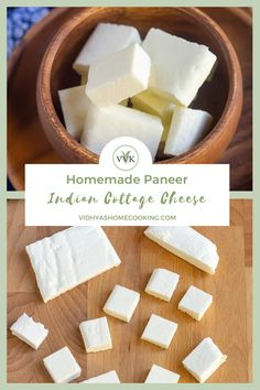 Easy homemade paneer/chhena recipe without any additives and with just two ingredients – milk and vinegar! #paneer #instantpot #homemadepaneer #vegetarian #healthy   vidhyashomecooking.com @srividhyam