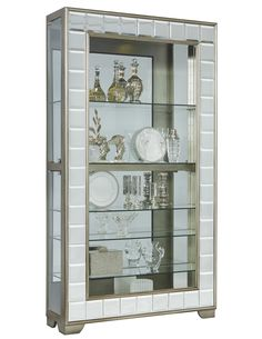 Elegant Wine Glass Display Cabinet