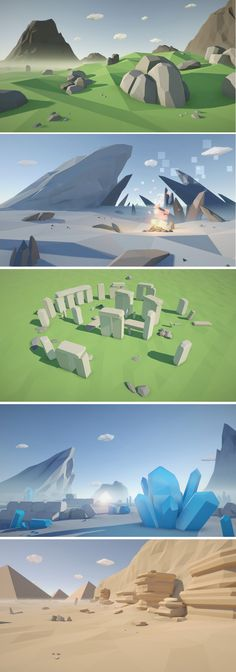 Low Poly game designs