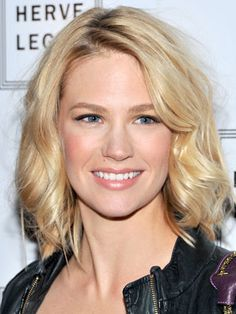 January Jones.. I want my hair to look like hers!!! but brunette of course..