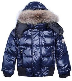 Moncler Kids Jacket Boy Dark Blue
