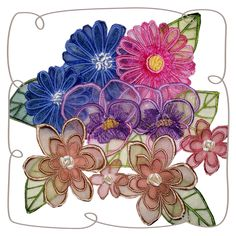3D Flowers 1: Embroidershoppe