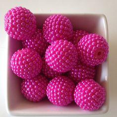 22mm Hot Pink Berry Acrylic Resin Bubblegum Bead-Chunky Bubblegum Bead Necklace-Bead-22mm Beads-Bubblegum Bead-20mm Beads-Acrylic-Resin