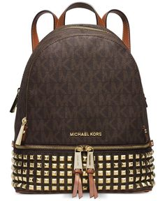 4b6e4dd28740 MICHAEL Michael Kors Rhea Zip Small Studded Backpack #BestLeatherHandbags  #michaelkorsisabellahandbag Michael Kors Backpack,