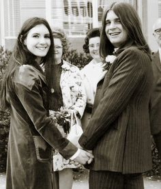 Mr John  Michael Osbourne on his wedding day, July ,1971 with first wife. Thelma Mayfair Riley.